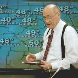 ABC 3340 James Spann Pam Huff in front of weather map e1452112845833 300x270